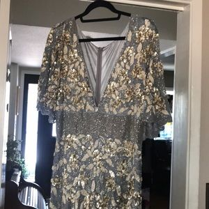 Mac Duggal floor length dress worn once